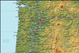 A Map Of Oregon by Oregon Map