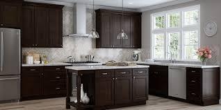 branford espresso shaker recessed panel rta kitchen cabinets a