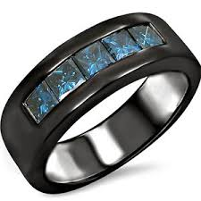 mens black diamond wedding band men s black diamond wedding bands