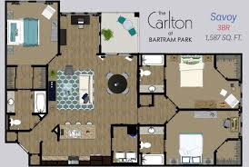 savoy floor plan 1 2 u0026 3 bedroom lakefront apartments in jacksonville fl the