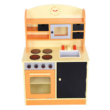 preschool kitchen furniture costway wood kitchen cooking pretend play set toddler