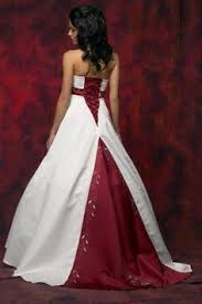 brautkleid wei rot elegantes hochzeitskleid für eine braut die eine hochzeit in
