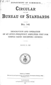 us bureau of standards radio plans schematics and circuits