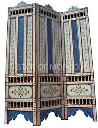 Moroccan Room Divider Middle Eastern Moroccan Inlaid Wooden Screen Room Divider Ebay