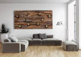 made wood wall with floating wood shelves 84 by