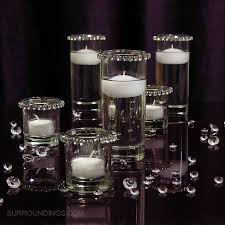 candle centerpiece cylinders crystals floating candle centerpiece kit