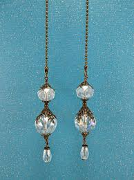 ceiling fan pull chain set set of two clear ab crystal ceiling fan pulls crystal light pull