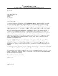 ideas of cover letter sample for director of marketing on