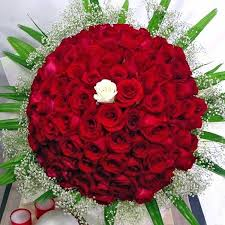 real flowers 99 roses 1 white of fortune to your soul mate delivery