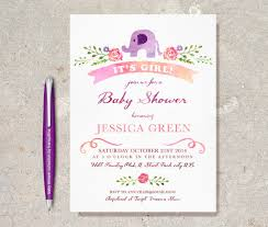 elephant baby shower invitations baby shower printable invitation watercolour purple