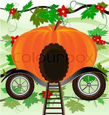 pumpkin carriage pumpkin carriage stock vector colourbox
