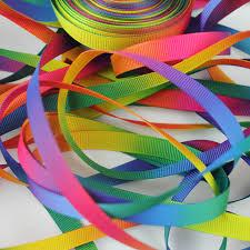 fabric ribbon 3 8 9mm hot transfer rainbow printing ribbon grosgrain ribbon