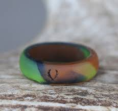 silicone wedding bands women s camo silicone wedding band staghead designs design
