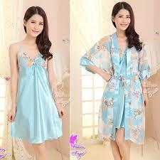Baju Tidur baju tidur piyama sw28g05 f blue chaviori intimate shop
