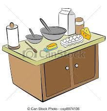 clipart cuisine cuisine outils ingrédients island ingrédients image clip