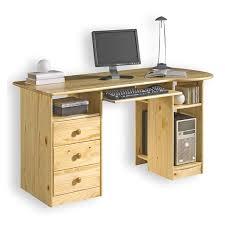 Schreibtisch Mit Schubladen Schreibtisch Bob Computertisch Pc Schreibtisch Kiefer Massiv