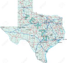Dallas Tx Map Texas State Interstate And Us Highway Map Royalty Free Cliparts