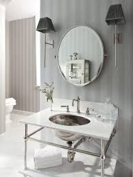 bathroom cabinets accent mirrors beveled mirror long wall