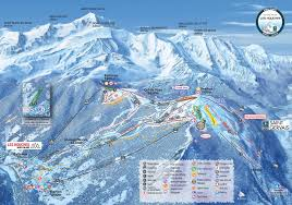 Tre Map Chamonix Valley Ski Resorts Map Grands Montets La Flegere Brevent