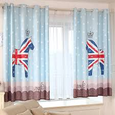 Nursery Curtains Uk Funky Blue Patterned Uk Nursery Curtains