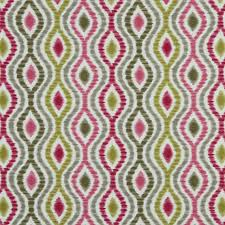 Roman Upholstery Modern Grey Pink Green Ikat Upholstery Fabric Home Decor Cotton