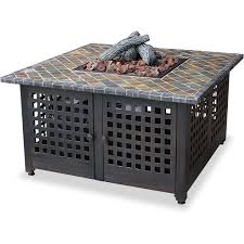 slate fire pit table uniflame 41 inch propane fire pit table slate tile with tank