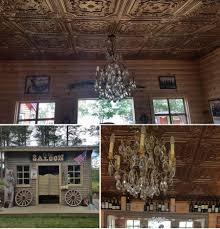 pl10 faux tin 3d rilievo ceiling tile cyan gold restaurant night