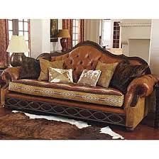 Cow Leather Sofa Western Country Ranch Decorations Decor Living Room