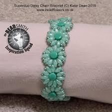 make bead flower bracelet images Superduo daisy bracelet tutorial katie dean jpg