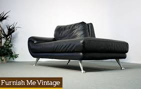 Leather Chaise Lounge Sofa Chic Black Leather Chaise Lounge Nicoletti Black Leather Chaise