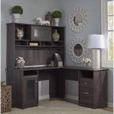Home Office Desk With Hutch Cabot L Shaped Desk With Hutch By Bush Furniture Desks