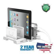 unitek universal multi device 4 port usb charging station desk