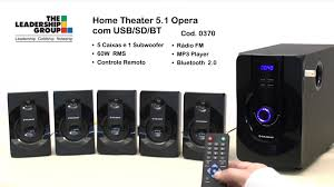 home theater with fm radio home theater 5 1 opera com usb sd bt 0370 youtube