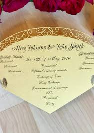 fan program beauty and the beast inspired wedding program fan custom