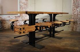 kitchen island bar table vintage industrial wood and steel swing out seat bar table rustic