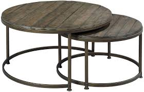 hammary leone round nesting cocktail table old brick furniture