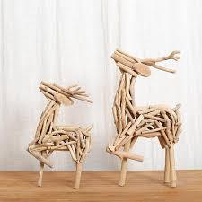 wooden craft table decor lovely deer 100 handmade wood