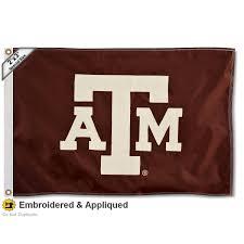 Aggie Flag Amazon Com Texas A U0026m Aggies 2x3 Foot Embroidered Flag Sports