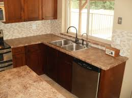 Small Corner Sinks Kitchen Small L Shaped Kitchen Design Corner Sink Featured