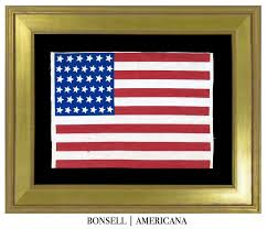 Americana Flags Great 39 Star Antique Flag With Canted Stars Circa 1876 1889