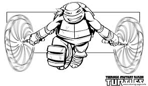 mike ninja turtle free superhero sf299 coloring pages printable