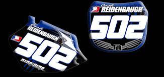 motocross full gear yamaha number plates nineonenine designs