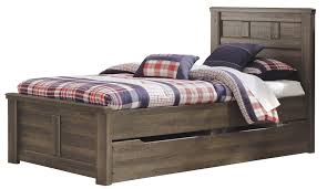 Wood Panel Bed Frame by Buy Juararo Twin Panel Bed With Trundle Under Bed Storage By