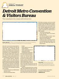 detroit metro convention visitors bureau convene may 2017 page 92 93