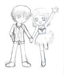 anime chibi chibi couple date by armogirl5 on deviantart