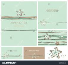 wedding well wishes cards greeting cards set sea invitation stock vector 82084744