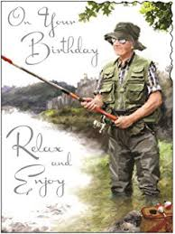 humour birthday card fishing in the rain amazon co uk office