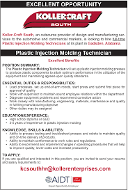 aidt jobs jobs view 20733 plastic injection molding technician