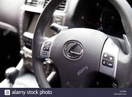 lexus dealership uk lexus car interior dashboard and steering wheel england uk stock