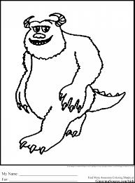 magnificent moshi monsters coloring pages with monsters inc